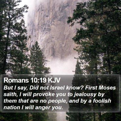 Romans 10:19 KJV Bible Verse Image