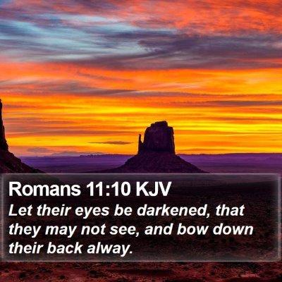 Romans 11:10 KJV Bible Verse Image