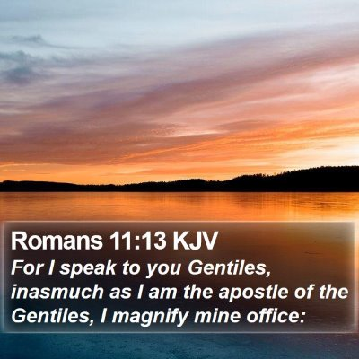 Romans 11:13 KJV Bible Verse Image