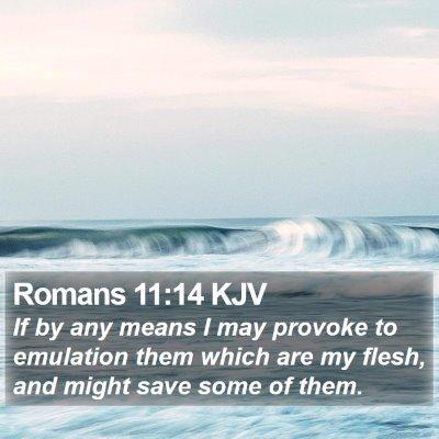Romans 11:14 KJV Bible Verse Image