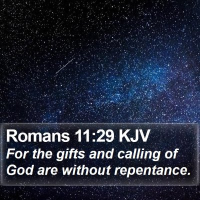 Romans 11:29 KJV Bible Verse Image