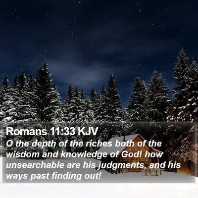 Romans 11:33 KJV Bible Verse Image