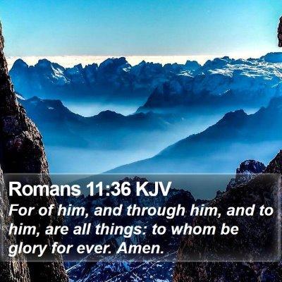 Romans 11:36 KJV Bible Verse Image