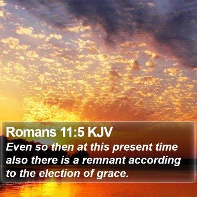 Romans 11:5 KJV Bible Verse Image
