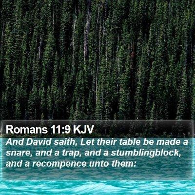 Romans 11:9 KJV Bible Verse Image