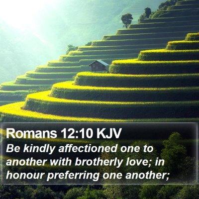 Romans 12:10 KJV Bible Verse Image