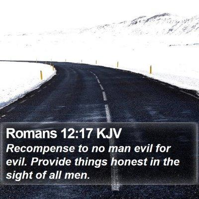 Romans 12:17 KJV Bible Verse Image