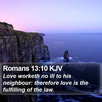Romans 13:10 KJV Bible Verse Image