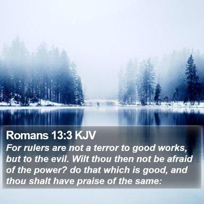 Romans 13:3 KJV Bible Verse Image