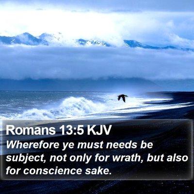 Romans 13:5 KJV Bible Verse Image