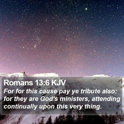 Romans 13:6 KJV Bible Verse Image