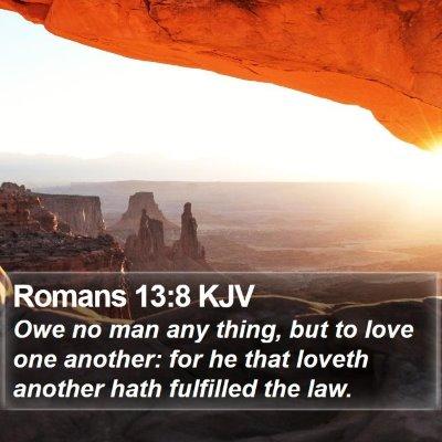 Romans 13:8 KJV Bible Verse Image