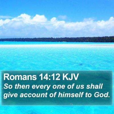 Romans 14:12 KJV Bible Verse Image