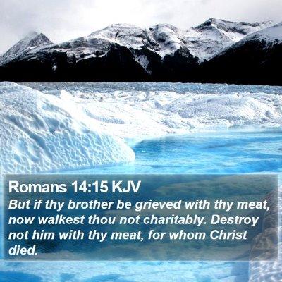 Romans 14:15 KJV Bible Verse Image