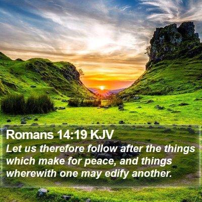 Romans 14:19 KJV Bible Verse Image