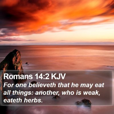 Romans 14:2 KJV Bible Verse Image