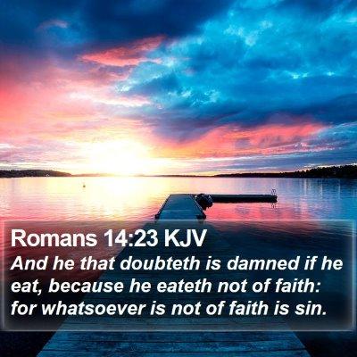 Romans 14:23 KJV Bible Verse Image