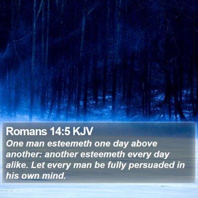 Romans 14:5 KJV Bible Verse Image