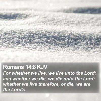Romans 14:8 KJV Bible Verse Image