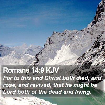 Romans 14:9 KJV Bible Verse Image