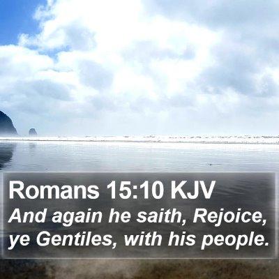 Romans 15:10 KJV Bible Verse Image