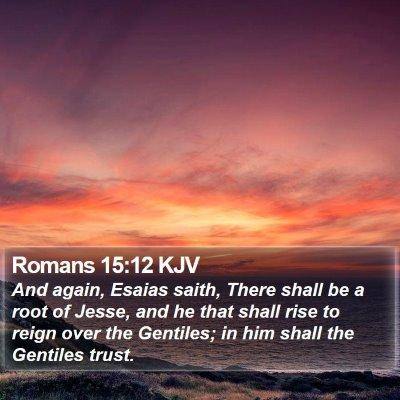 Romans 15:12 KJV Bible Verse Image