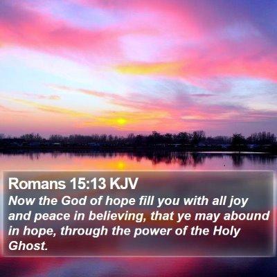 Romans 15:13 KJV Bible Verse Image
