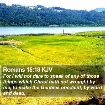 Romans 15:18 KJV Bible Verse Image