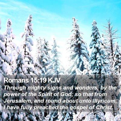 Romans 15:19 KJV Bible Verse Image