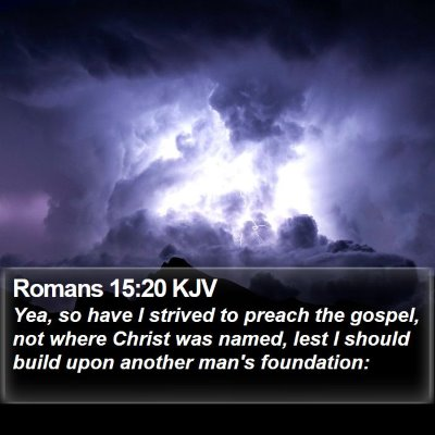Romans 15:20 KJV Bible Verse Image