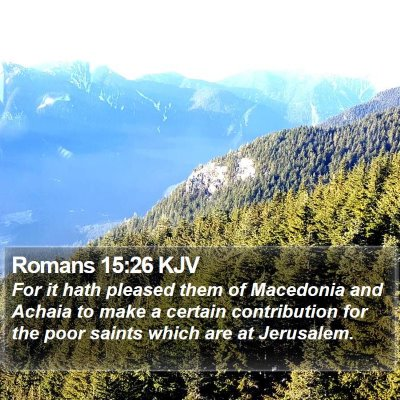 Romans 15:26 KJV Bible Verse Image