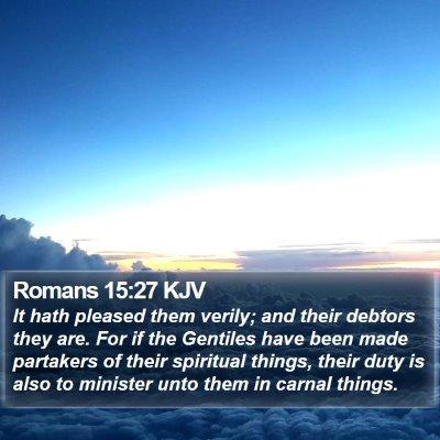 Romans 15:27 KJV Bible Verse Image
