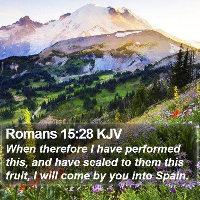Romans 15:28 KJV Bible Verse Image