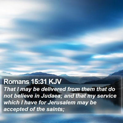 Romans 15:31 KJV Bible Verse Image