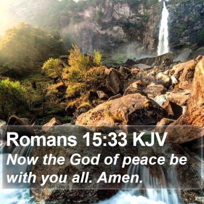 Romans 15:33 KJV Bible Verse Image