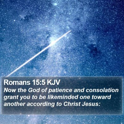 Romans 15:5 KJV Bible Verse Image