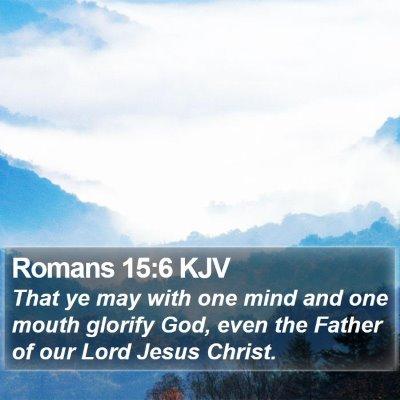 Romans 15:6 KJV Bible Verse Image