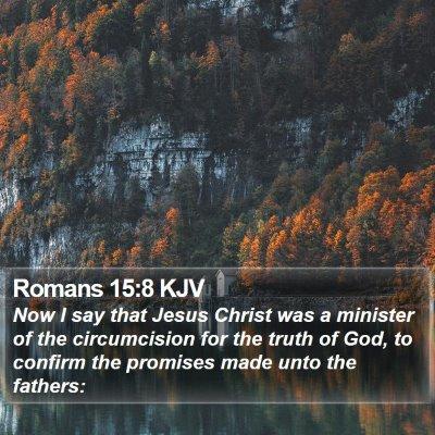 Romans 15:8 KJV Bible Verse Image