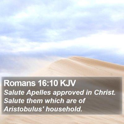 Romans 16:10 KJV Bible Verse Image