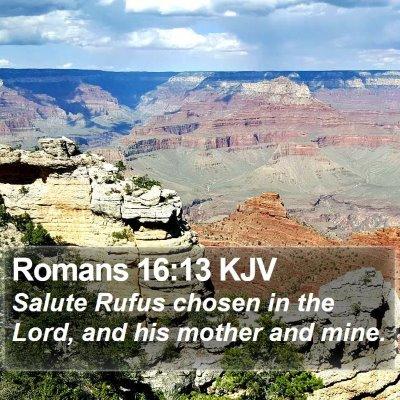 Romans 16:13 KJV Bible Verse Image