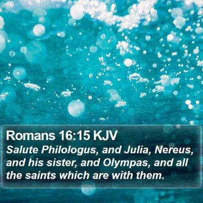 Romans 16:15 KJV Bible Verse Image