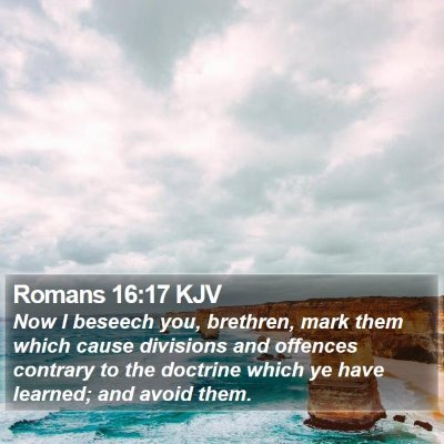 Romans 16:17 KJV Bible Verse Image
