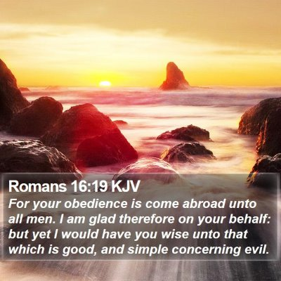 Romans 16:19 KJV Bible Verse Image