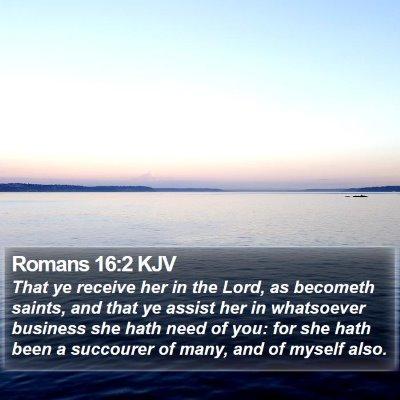 Romans 16:2 KJV Bible Verse Image