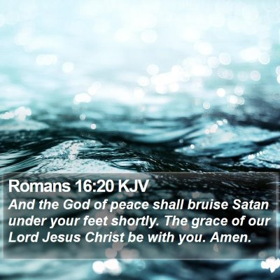 Romans 16:20 KJV Bible Verse Image