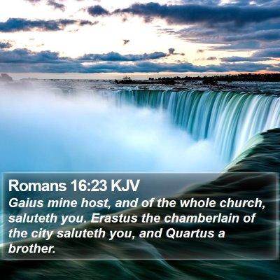 Romans 16:23 KJV Bible Verse Image