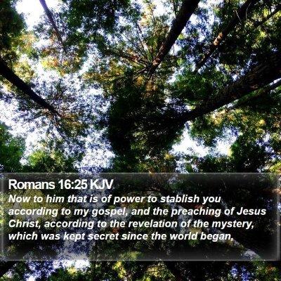 Romans 16:25 KJV Bible Verse Image
