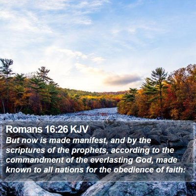Romans 16:26 KJV Bible Verse Image