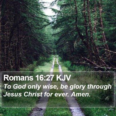 Romans 16:27 KJV Bible Verse Image