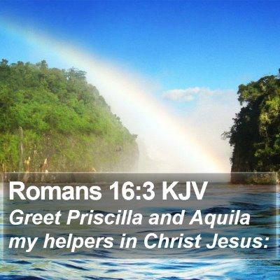 Romans 16:3 KJV Bible Verse Image